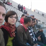 at the egyptian premier league football match